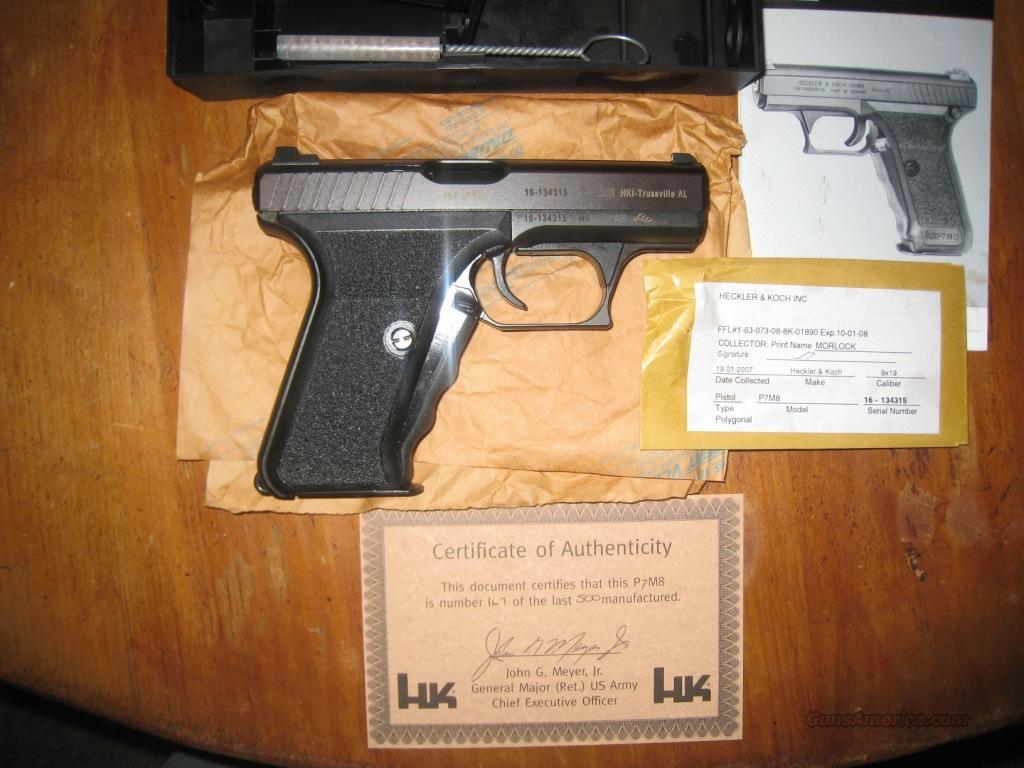 HK P7M8  * 1 of the last 500 made *  Guns > Pistols > Heckler & Koch Pistols > SteelFrame