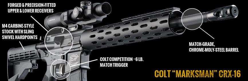 COLT Marksman Model CRX-16  Guns > Rifles > Colt Military/Tactical Rifles