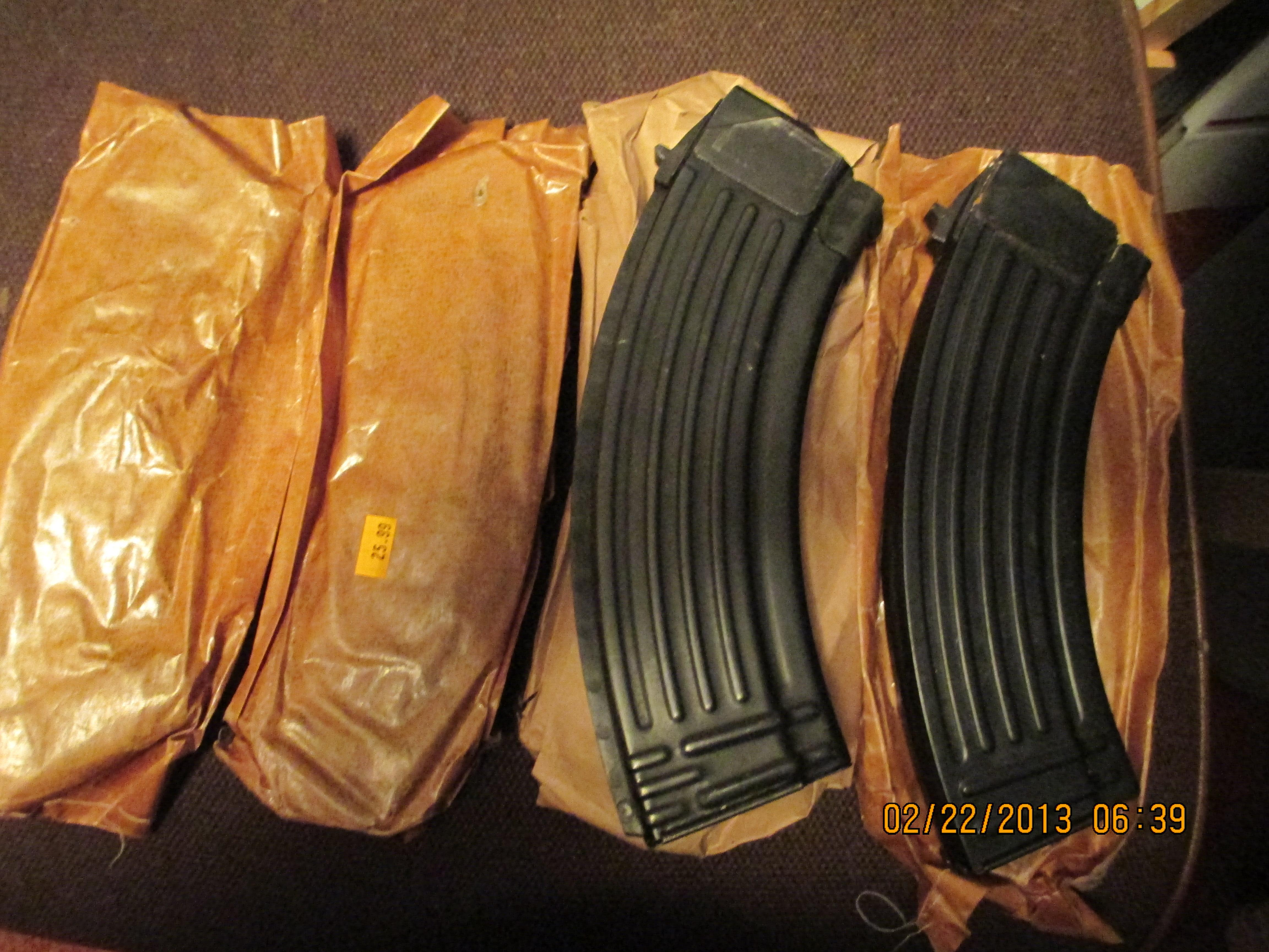 AK 47's - Lot of 5 - 30 round  Non-Guns > Magazines & Clips > Rifle Magazines > AK Family