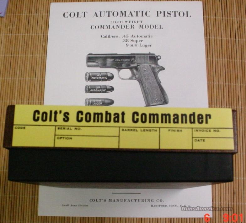 Colt Combat Commander 45 1965-72 Box & Manual  Non-Guns > Gun Cases
