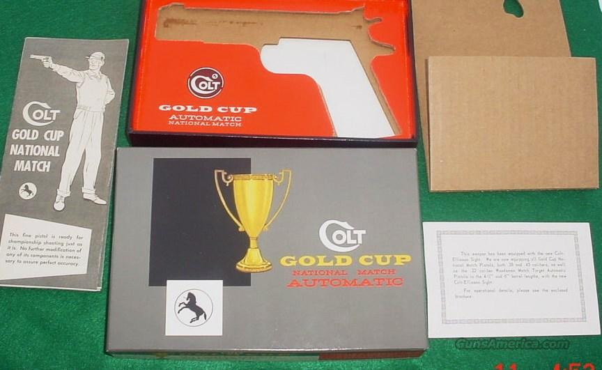 Colt Gold Cup National Match PRE-70 Series Box & Paperwork 100% Vintage Original  Non-Guns > Gun Cases