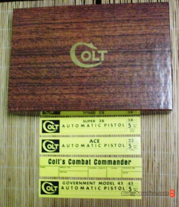Colt ACE,Combat Commander,Super 38, Gov. Model Vintage Colt Box & Manual 1955-64  Non-Guns > Gun Cases