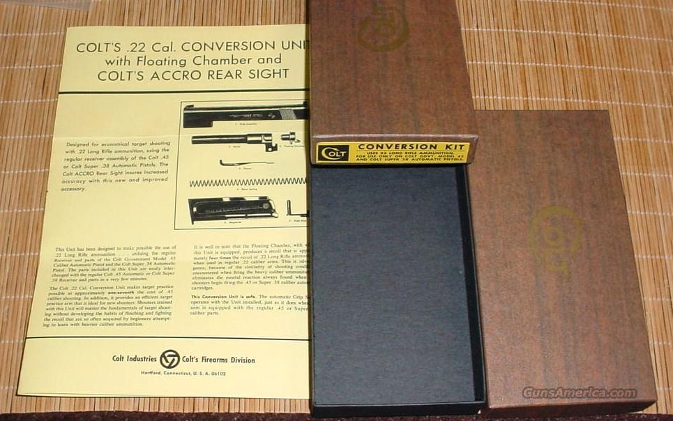 Colt .22 LR Conversion Kit Box & PW Gov & Super 38  Guns > Pistols > Colt Automatic Pistols (22 Cal.)
