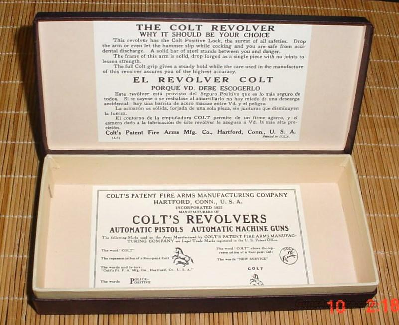 Colt Bankers Special Box   Guns > Pistols > Colt Double Action Revolvers- Modern
