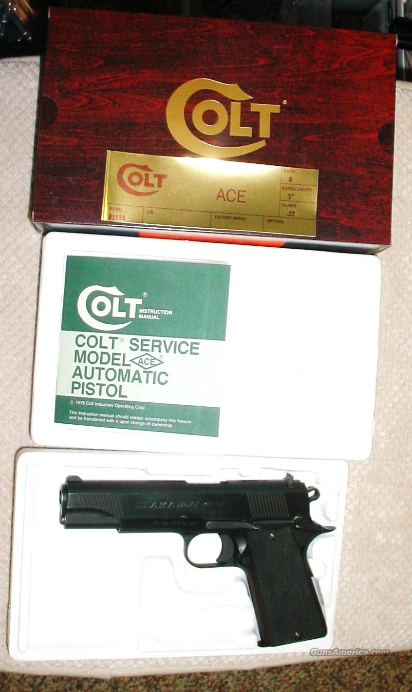 Colt Service Model ACE .22 Box & Paperwork  Guns > Pistols > Colt Automatic Pistols (22 Cal.)