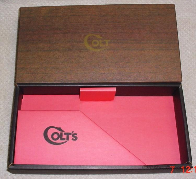 Colt Python 2 piece Box & PW 1950-1960's 2 piece  Non-Guns > Gun Cases