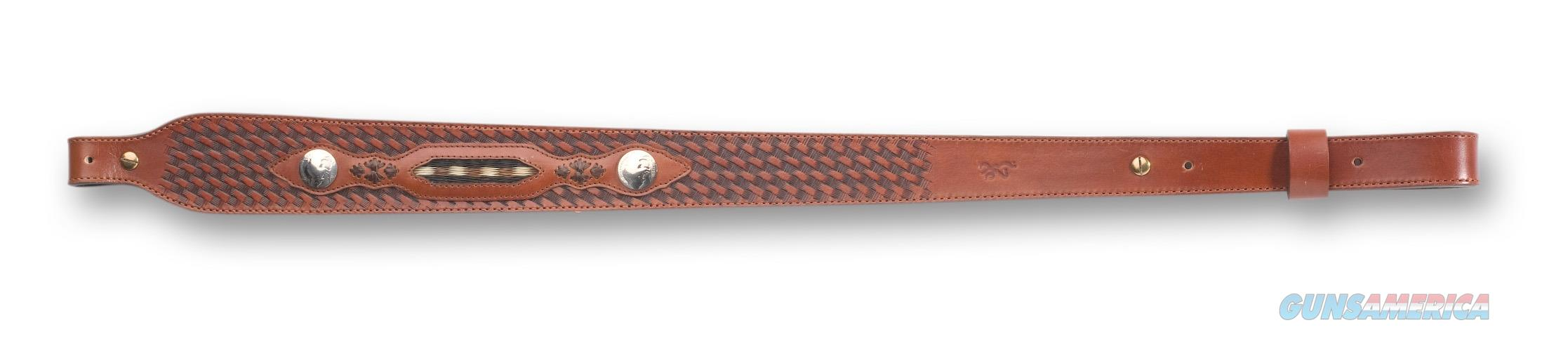 Browning Buffalo Nickel LEATHER SLING  New!  122602  Non-Guns > Gun Parts > Misc > Rifles