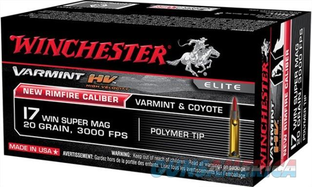 WINCHESTER VMAX 500-Rounds 17 WSM cal.  New!     S17W20     17WSM  Non-Guns > Ammunition