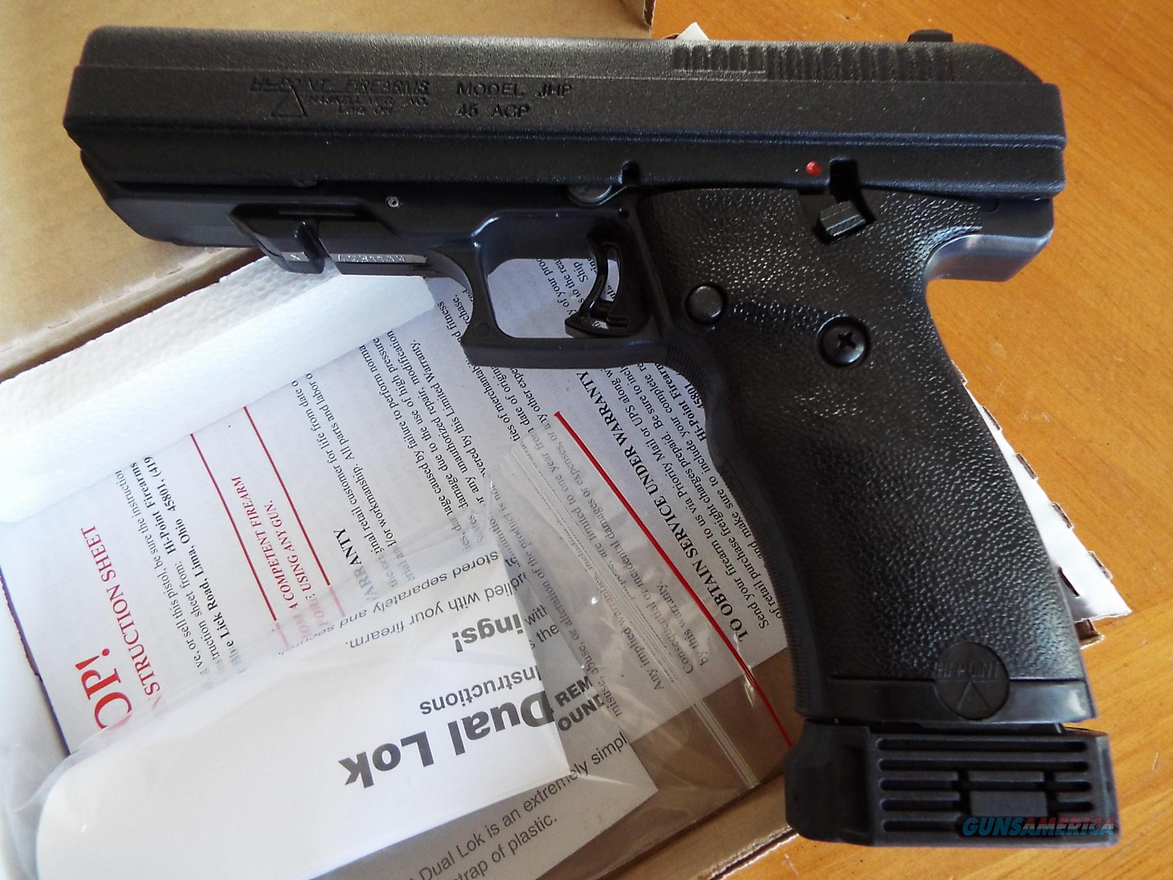 Hi-Point JHP pistol   45 ACP    New!    LAYAWAY OPTION    JHP-45  Guns > Pistols > Hi Point Pistols