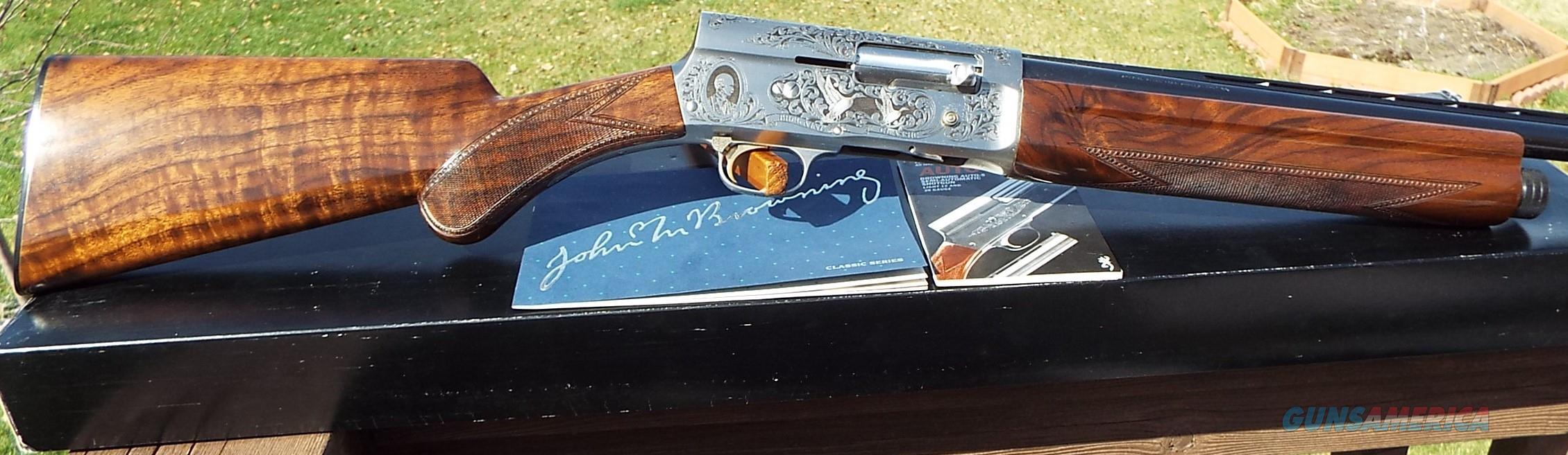 Browning A5 CLASSIC Engraved 12 ga. Box    LAYAWAY OPTION  Guns > Shotguns > Browning Shotguns > Autoloaders > Hunting