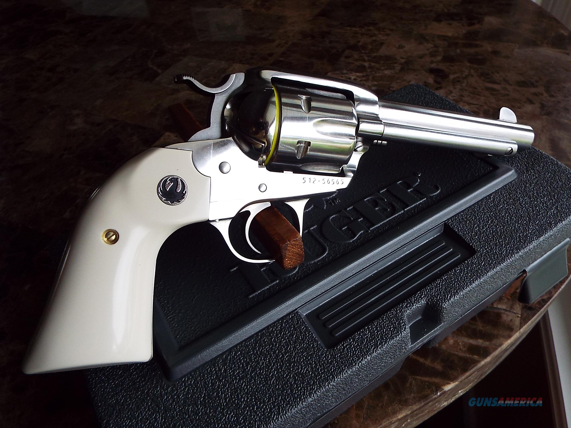 Ruger Vaquero BISLEY Stainless w/ Ivory   357 Mag / 38 Spl.   New!     LAYAWAY OPTION     5130    Guns > Pistols > Ruger Single Action Revolvers > Cowboy Action