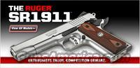 RUGER SR1911 Stainless 45 ACP  NEW!  Guns > Pistols > Ruger Semi-Auto Pistols > P-Series