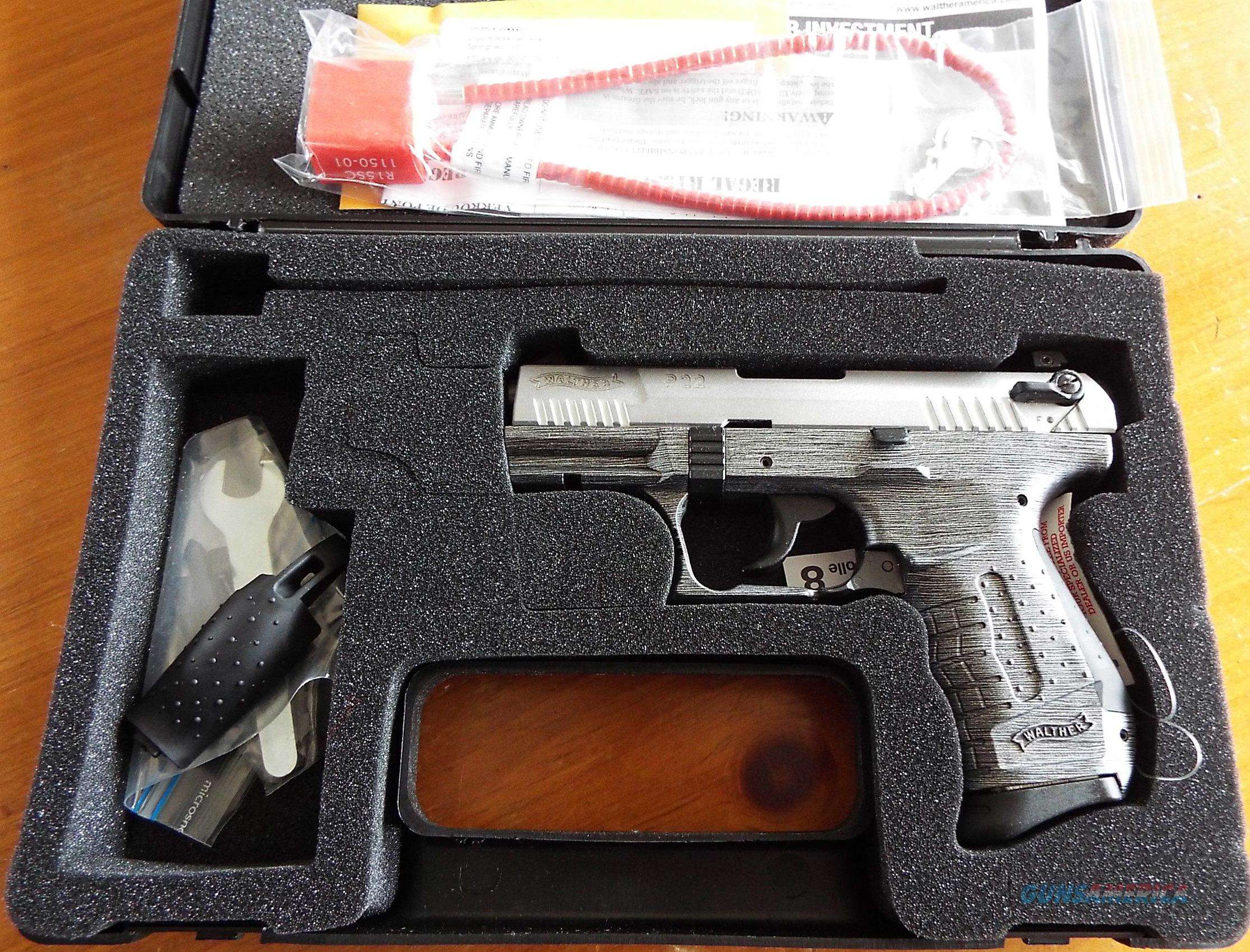 Walther P22 Brushed CHROME    22 LR   New!    LAYAWAY OPTION    WAN22012  Guns > Pistols > Walther Pistols > Post WWII > P22