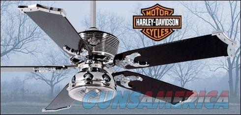 "Harley-Davidson Ceiling Fan with Remote - Chrome 52""  New!  LAYAWAY OPTION  JO81001  Non-Guns > Lights > Other"