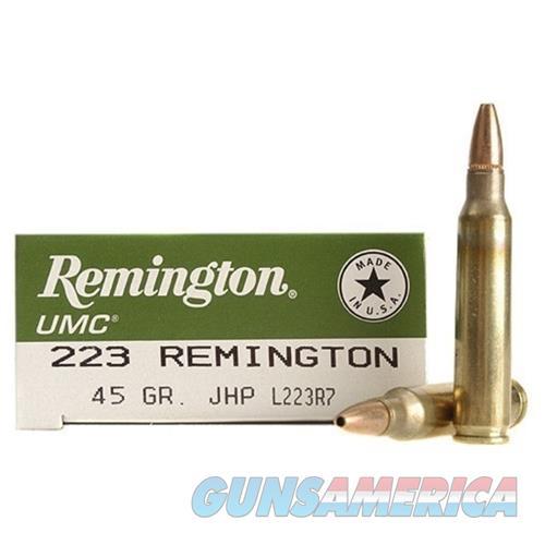 SALE REDUCED Remington UMC Ammunition 223 Remington 45 Grain Jacketed Hollow Point   100-rds     NEW!     JHP    L223R7  Non-Guns > Ammunition