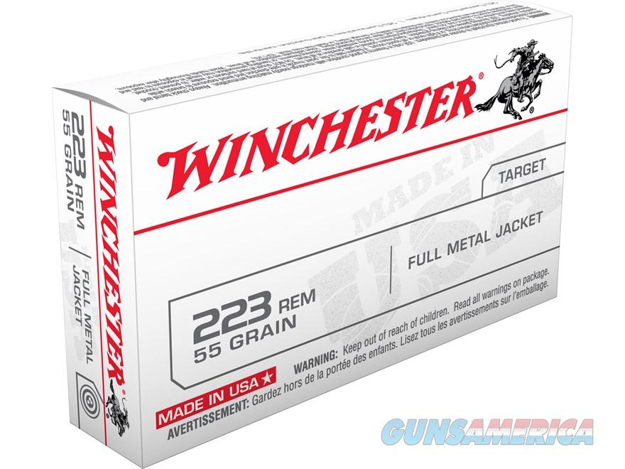 SALE REDUCED Winchester USA Ammunition 223 Remington 55 Grain Full Metal Jacket  100-rds  NEW!      FMJ     USA223R1  Non-Guns > Ammunition