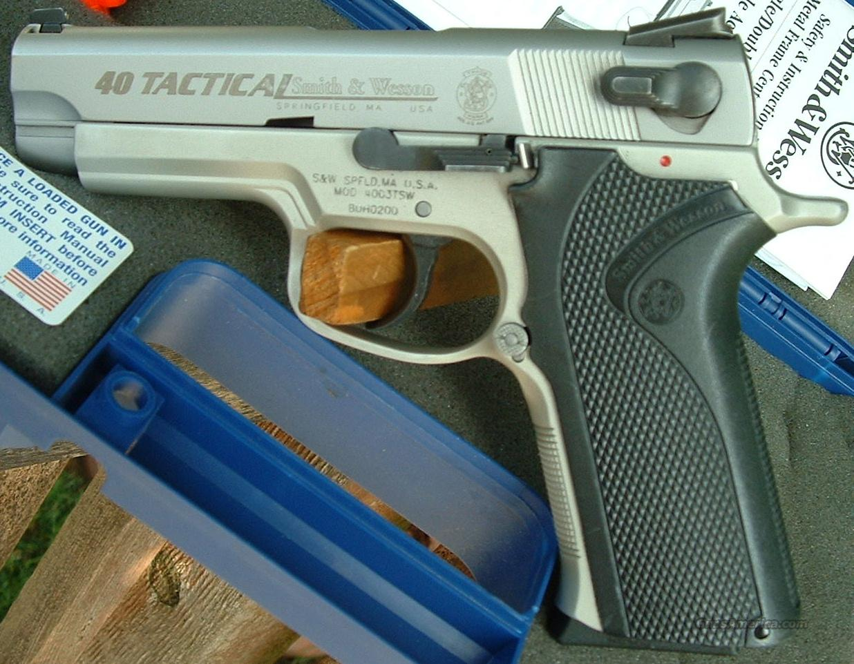 S&W Smith & Wesson LE 4003TSW Tactical 40 S&W   EXC  Guns > Pistols > Smith & Wesson Pistols - Autos > Alloy Frame