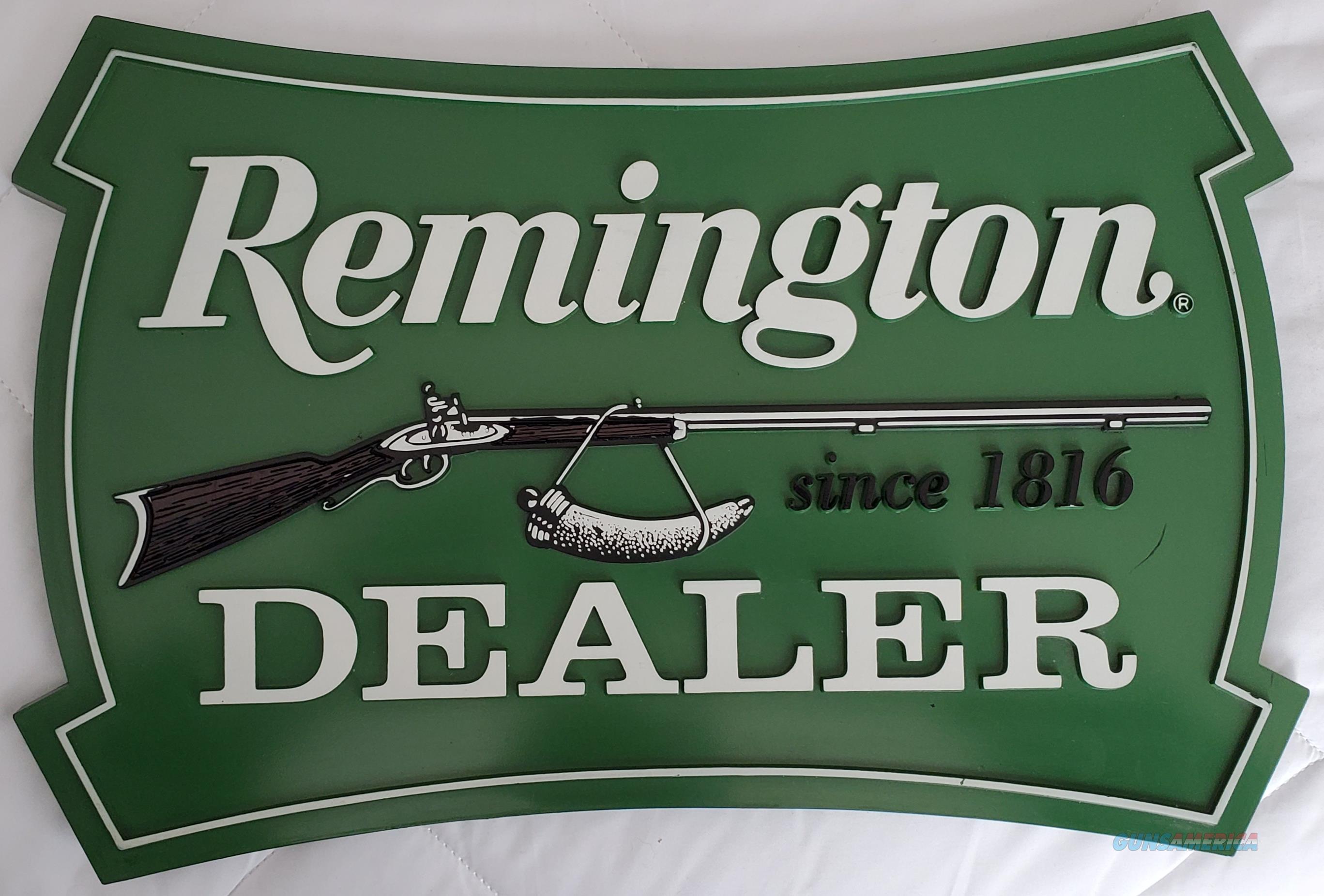 Vintage Remington Authorized DEALER SIGN  Non-Guns > Miscellaneous