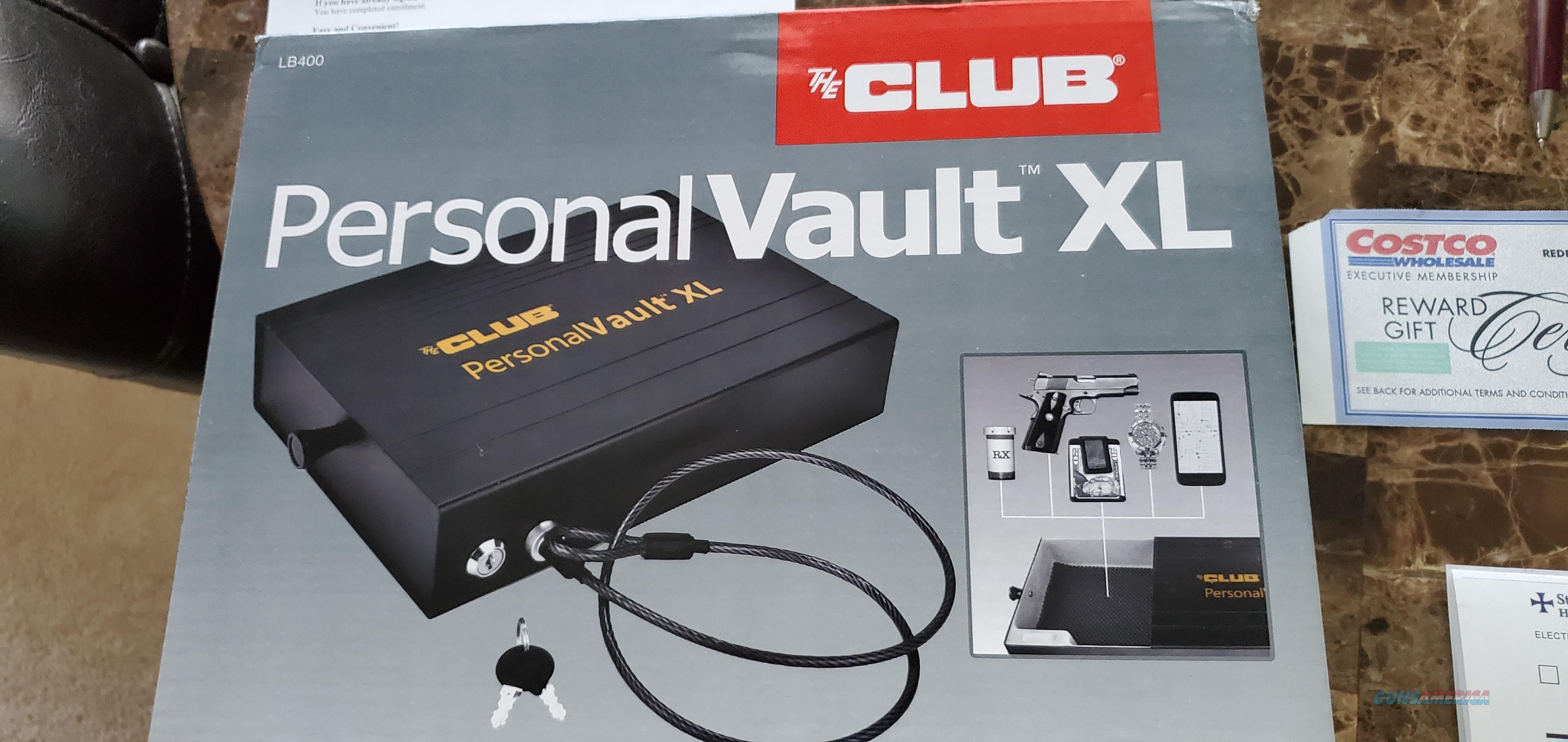 The Club Personal Vault XL Security Lock Box  NEW!  LB400  Non-Guns > Gun Safes
