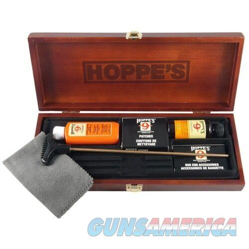 HOPPES  Deluxe Universal GUN CLEANING KIT in WOOD CASE  New!  Non-Guns > Gunsmith Tools/Supplies