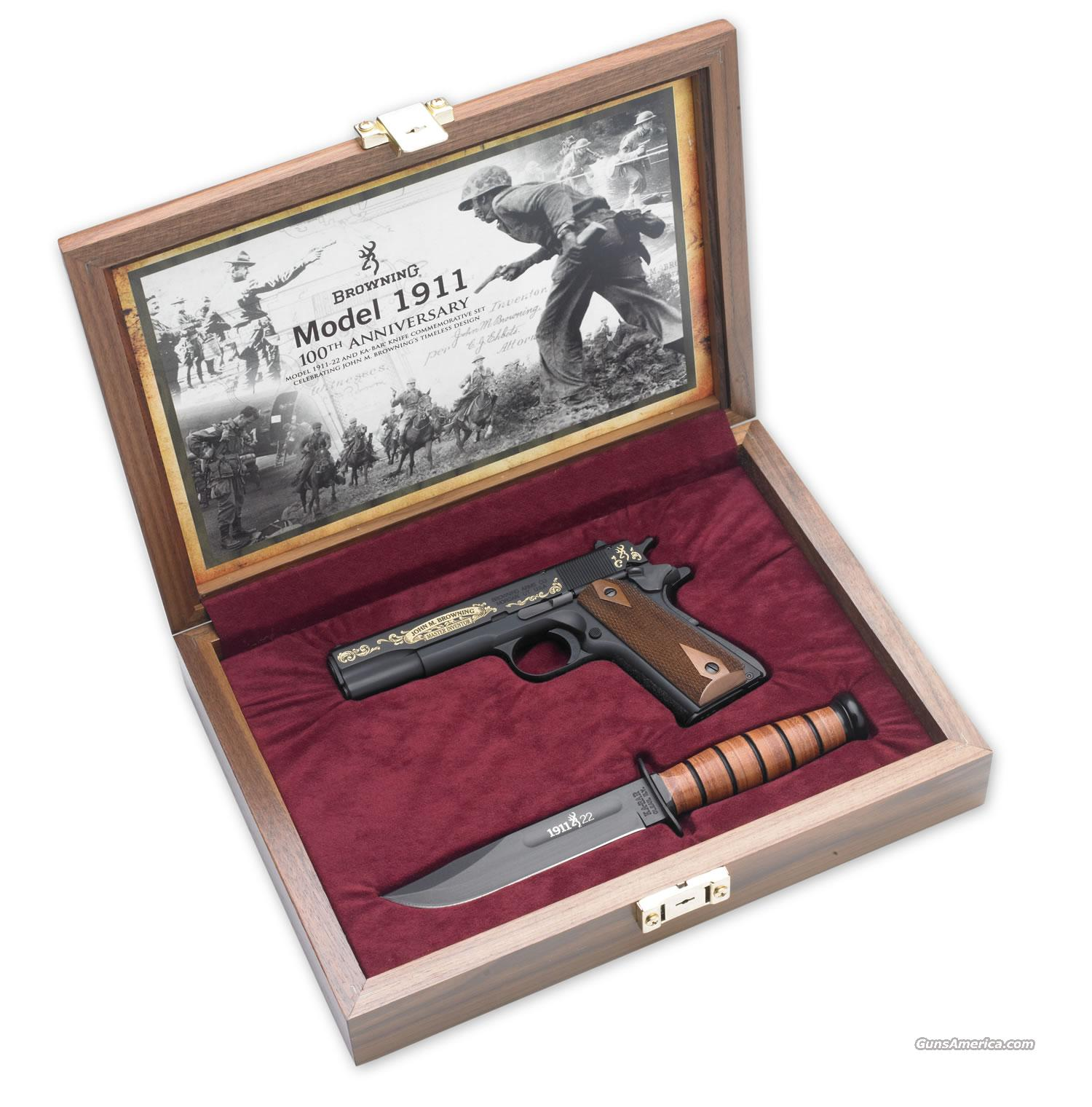 Ltd Edition Cased Browning 1911-22 Commemorative w/ Ka-Bar   22 LR   New!    LAYAWAY OPTION    051804490  Guns > Pistols > Browning Pistols > Other Autos