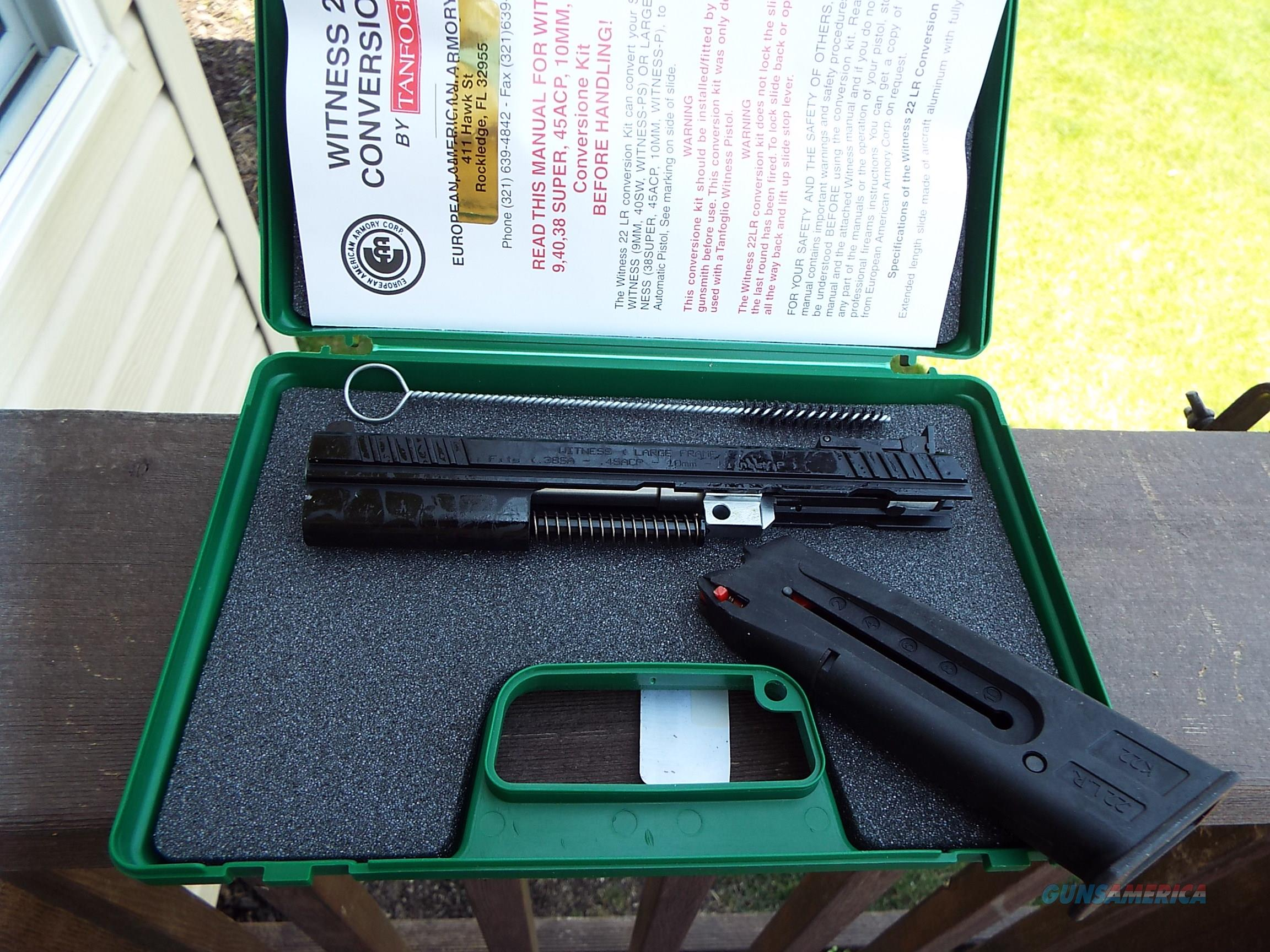 EAA Witness 22 LR CONVERSION KIT Large Frame New!  LAYAWAY OPTION  109915  Non-Guns > Gun Parts > Misc > Pistols