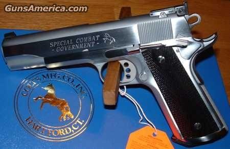 01970CM Colt Special Combat CHROME 45  Guns > Pistols > Colt Automatic Pistols (1911 & Var)
