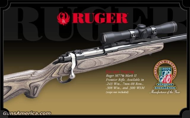 77 Frontier 300WSM, Reduced  Guns > Rifles > Ruger Rifles