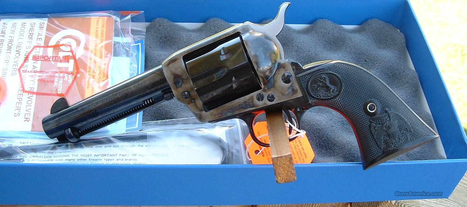 "Colt SAA 44-40 4.75"" Case Color New!   Guns > Pistols > Colt Single Action Revolvers - 3rd Gen."