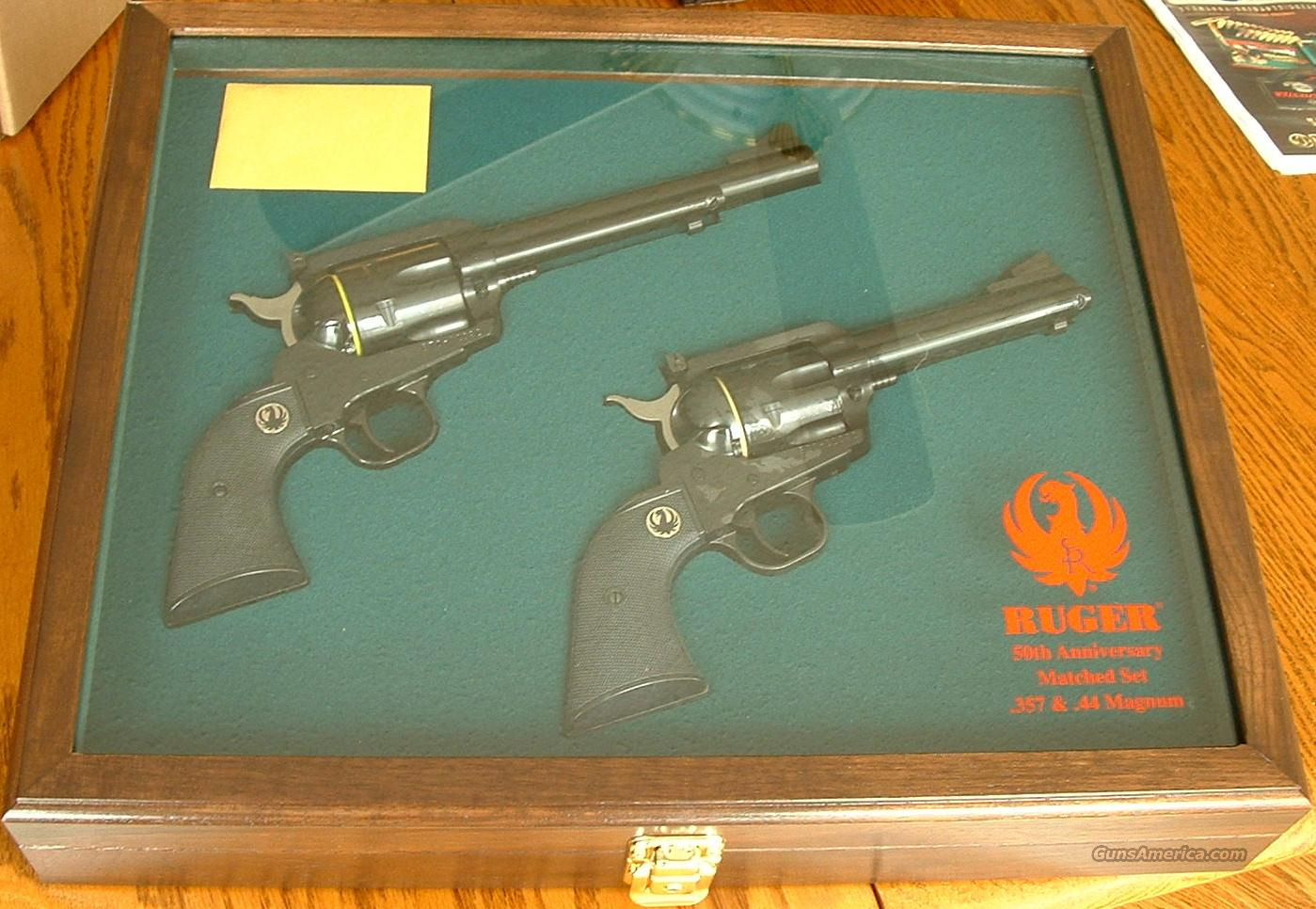Ruger Blackhawk 50th Anniversary MATCHED SET - New!  Guns > Pistols > Ruger Single Action Revolvers