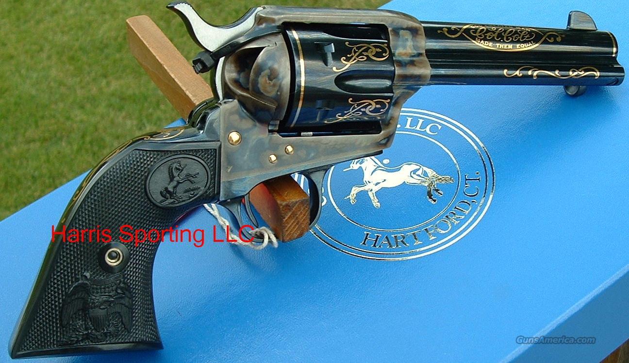 Ltd Edition Colt SAA 45 LC Custom Shop w/ Gold New!  Guns > Pistols > Colt Single Action Revolvers - 3rd Gen.