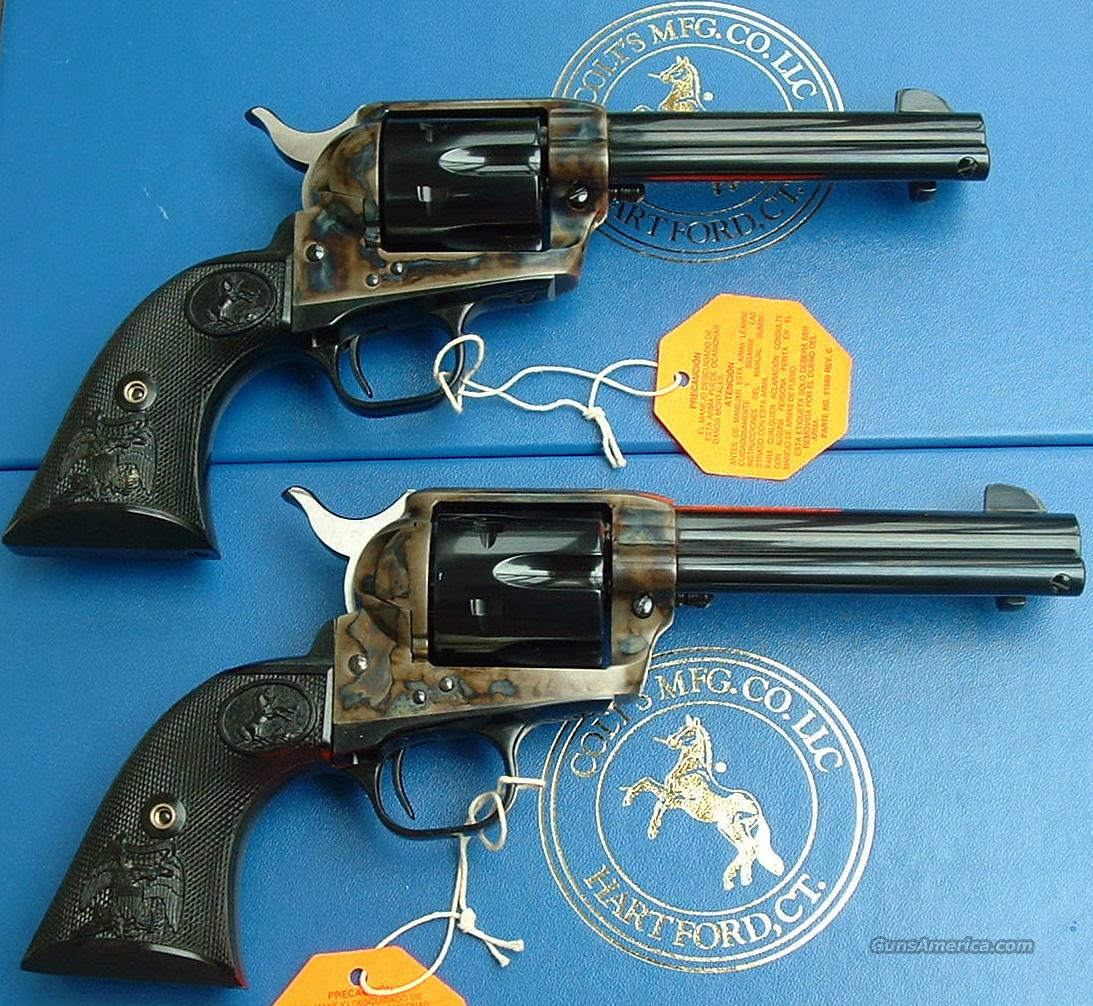 "CONSECT PAIR Colt SAA 45LC w/ CCH 4 3/4""  Guns > Pistols > Colt Single Action Revolvers - 3rd Gen."