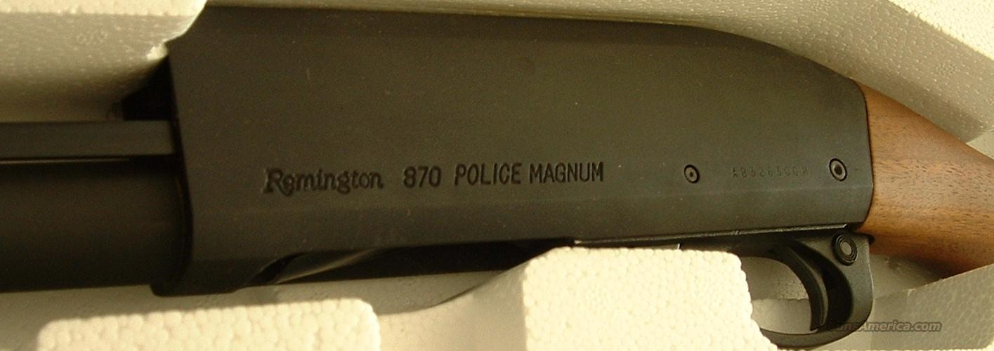 Remington 870 Police Magnum 12 Parkerized New!  Guns > Shotguns > Remington Shotguns  > Pump > Tactical