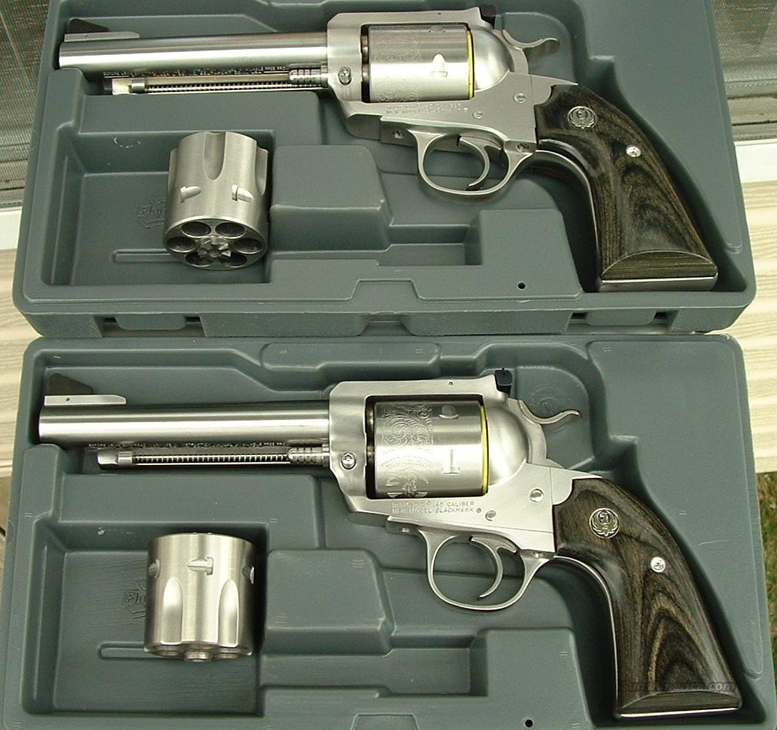 CONSECT PAIR (two) Ruger Bisley Blackhawk Convertible Stainless 45 ACP / 45 Colt  New!   LAYAWAY OPTION   0472  Guns > Pistols > Ruger Single Action Revolvers > Blackhawk Type