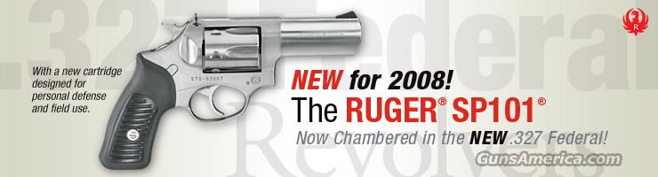"RUGER SP101 327 FEDERAL 3"" Stainless  Guns > Pistols > Ruger Double Action Revolver > SP101 Type"