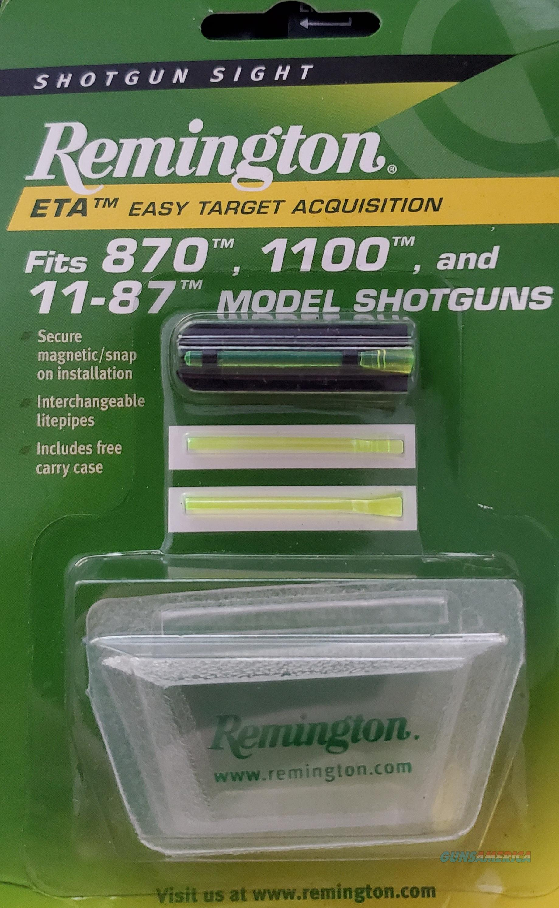 Remington ETA (Easy Target Acquisition) Shotgun Fiber Optic FRONT SIGHT  New!  Non-Guns > Gun Parts > Shotgun High Grade