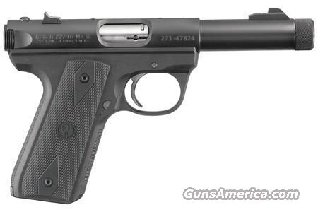 Ruger MKIII 22/45 Threaded Barrel pistol 22 LR  NEW!  Guns > Pistols > Ruger Semi-Auto Pistols > Mark I & II Family