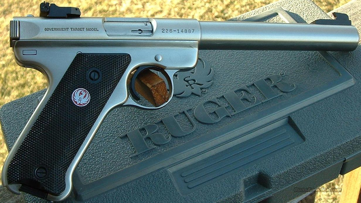 Ruger MKII Govt Target 22 LR   New!  Guns > Pistols > Ruger Semi-Auto Pistols > Mark II Family