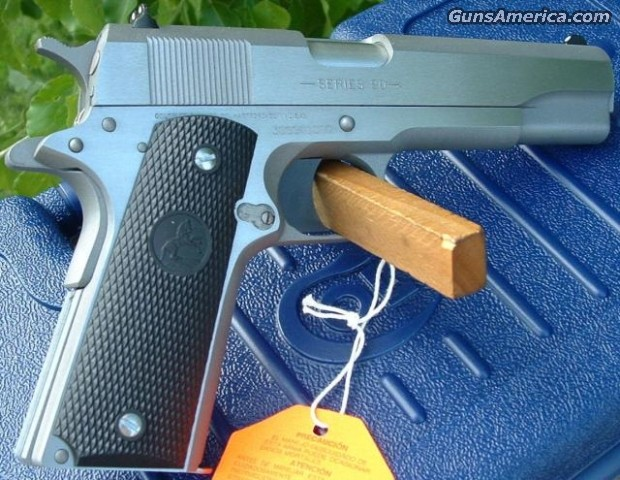 "01091 Colt 1911 Government Stainless ""100 Years"" 45     New!  Guns > Pistols > Colt Automatic Pistols (1911 & Var)"