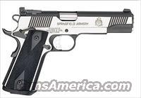 Springfield 1911 Black/Stainless Target w/ Night Sights 45   New!  Guns > Pistols > Springfield Armory Pistols > 1911 Type