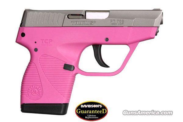 Taurus 738 TCP Stainless Raspberry Pink    380 ACP    New!    LAYAWAY OPTION     738039  Guns > Pistols > Taurus Pistols > Semi Auto Pistols > Polymer Frame
