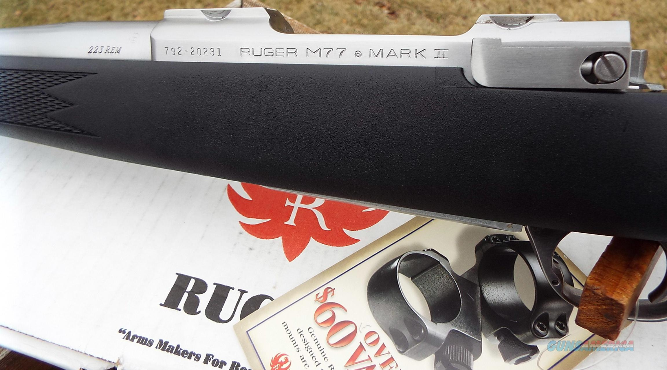 Ruger M77 Mark II All Weather SS      223 Rem.    New!     LAYAWAY OPTION     7836  Guns > Rifles > Ruger Rifles > Model 77