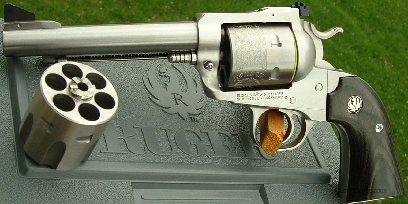 Ltd. Edition Ruger Bisley Blackhawk Convertible Stainless     45 ACP / 45 Colt     New!    LAYAWAY OPTION     0472  Guns > Pistols > Ruger Single Action Revolvers > Blackhawk Type