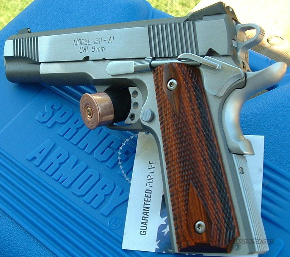 Springfield Armory 1911 A1 Loaded Stainless 9mm   NEW!  Guns > Pistols > Springfield Armory Pistols > 1911 Type