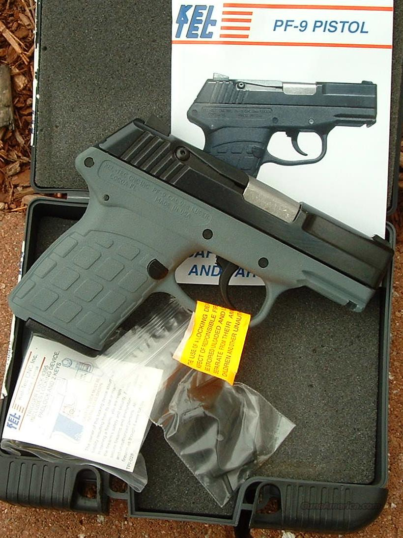 Kel-Tec PF-9 9mm pistol GRAY New!   Guns > Pistols > Kel-Tec Pistols > Pocket Pistol Type
