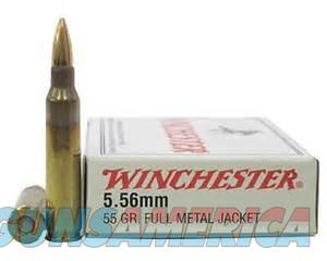 SALE REDUCED  Winchester 5.56 NATO / 223 FMJ Target 100-rds 556  NEW!     Q3131  Non-Guns > Ammunition