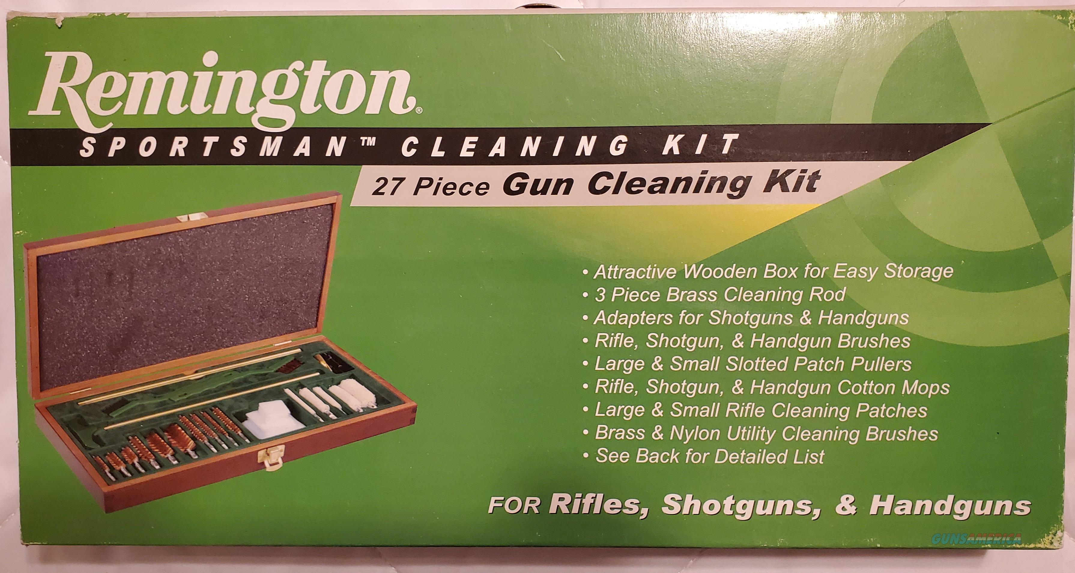 Remington Sportsman Universal GUN CLEANING KIT 27-Piece + Wood Case  New!  Non-Guns > Gunsmith Tools/Supplies