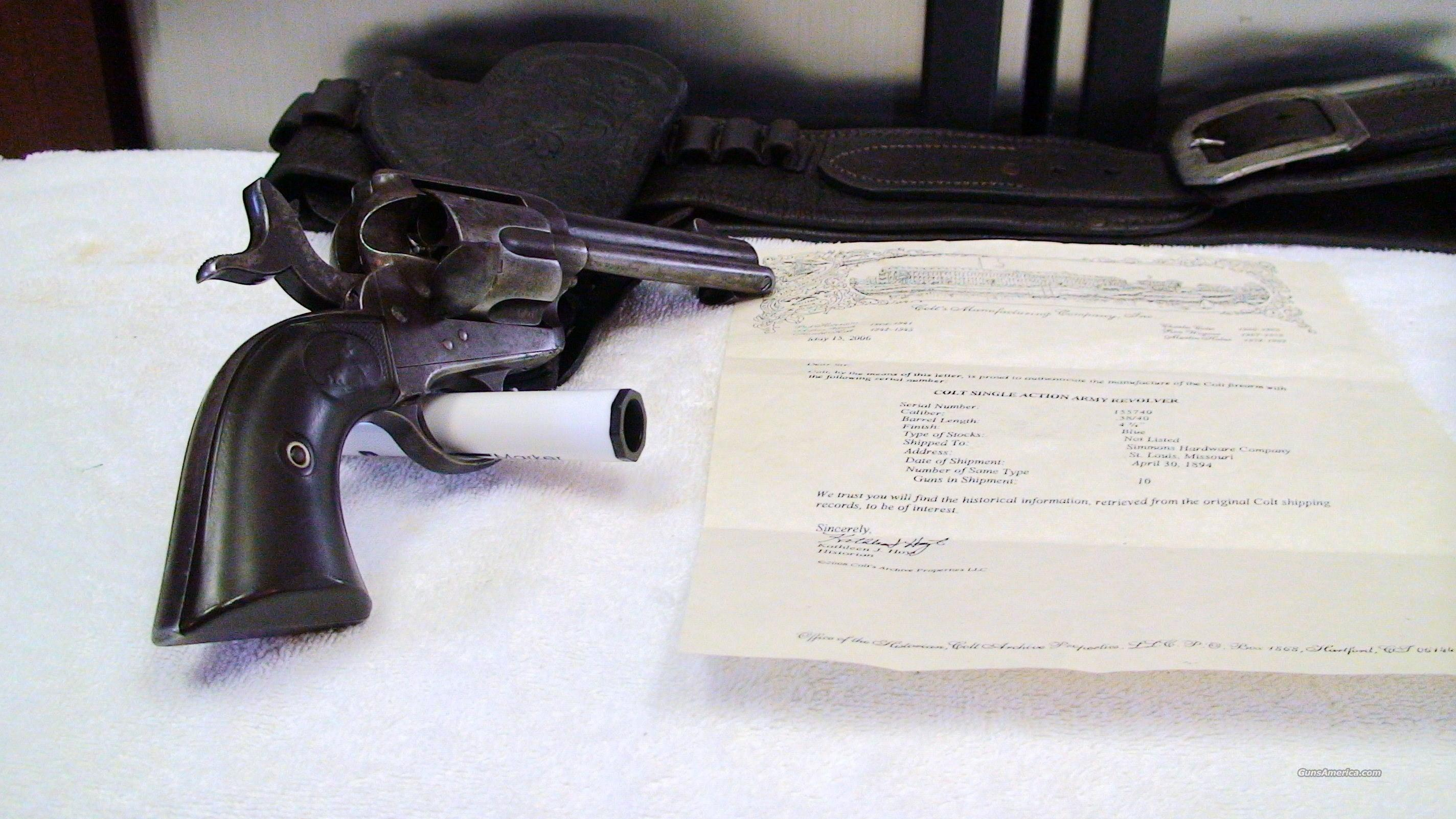 colt single action army revolver  Guns > Pistols > Colt Single Action Revolvers - 1st Gen.
