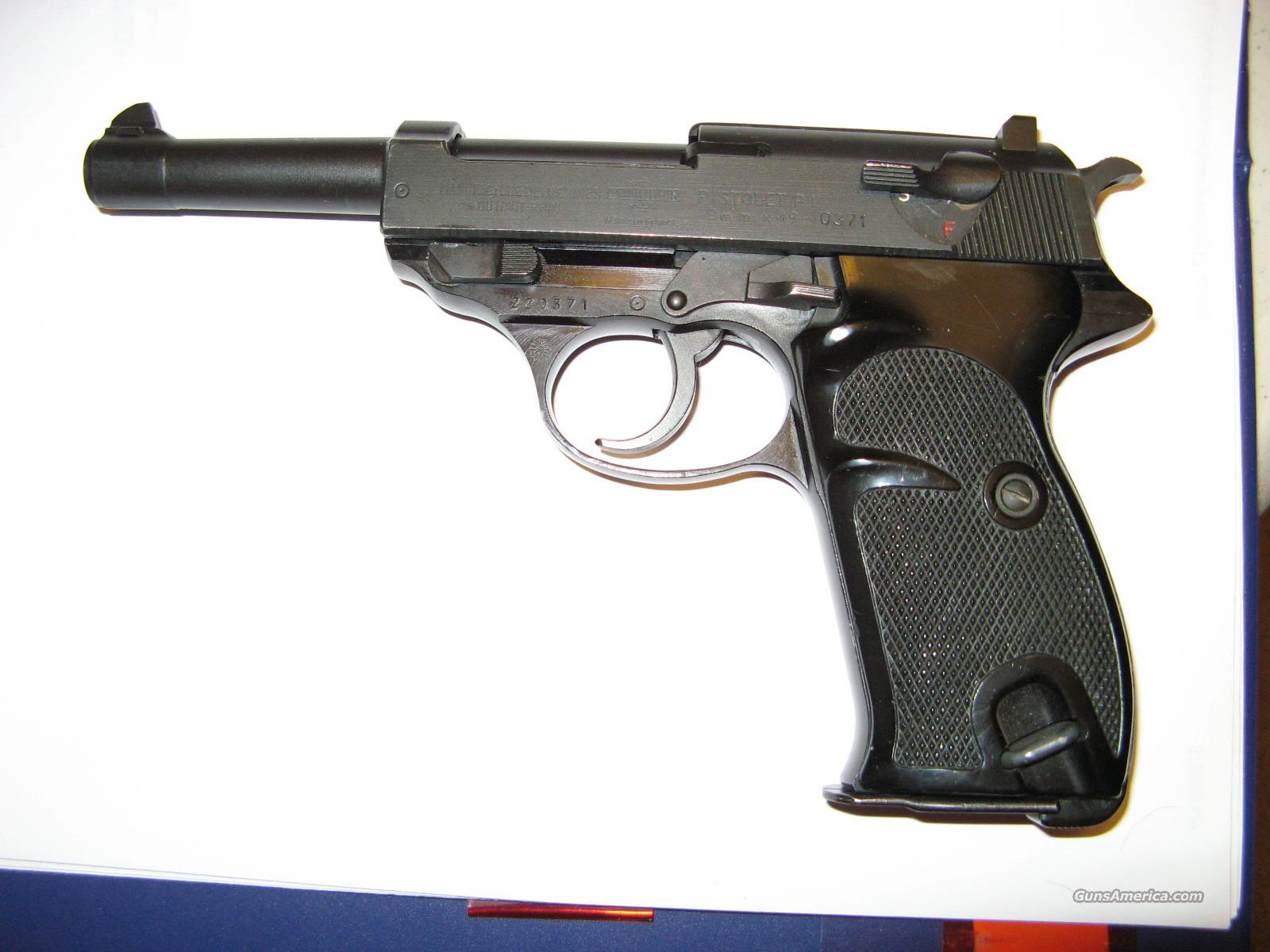 Walther French Manurhin P!/9mm   Guns > Pistols > Walther Pistols > Post WWII > Large Frame Autos