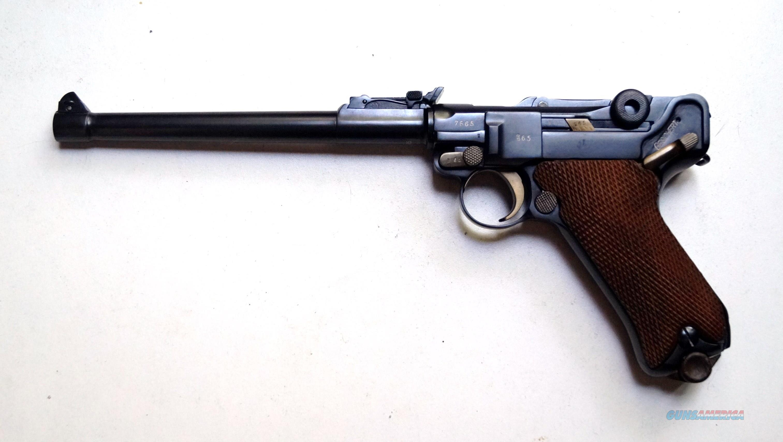 1914 ERFURT MILITARY ARTILLERY GERMAN LUGER WITH MATCHING NUMBERED MAGAZINE  Guns > Pistols > Luger Pistols